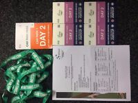 4 Davis Cup hospitality tickets this Saturday(17th) for sale Advantage lounge with car parking