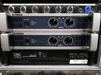 QSC rmx 2450 power amplifier 2 x 1200W