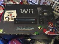 Nintendo wii console mario kart