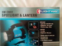 BRAND NEW IN BOX 3W CREE LED TORCH SPOT LANTERN PISTOL GRIP FLASHING STROBE RUBBERISED HIGH QUALITY