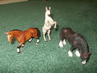 Group of Schleich Animals - Horses