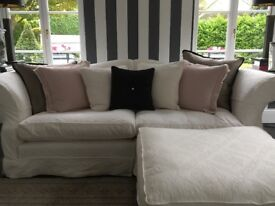 Superb-like-new selection of cream/white/grey sofas