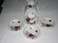 "10 piece selection of Royal standard ""Red Velvet and ""White Rose"" fine bone china"