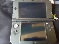 Nintendo 3ds xl black and (3) 4 games