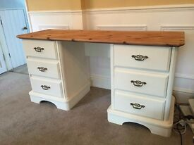Pine shabby chic desk or dressing table