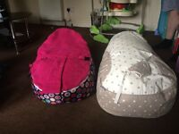 Two baby bean bags