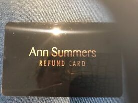 Ann Summers gift card £30 valid for 2 years