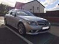 Mercedes Benz C220 CDI in silver, Diesel, Full leather, AMG A Sport