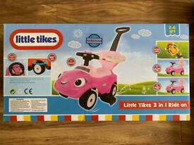 BRAND NEW LITTLE TIKES 3 IN 1 RIDE ON - PINK