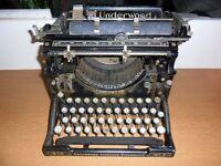 Vintage Underwood Standard 1920s Black American Office Typewriter number 5