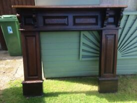 Oak fire surround with mantle