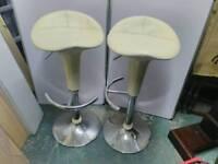 Swivel Kitchen bar stools x2