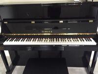 Black Yamaha Upright Piano U121G/PE3 + stool