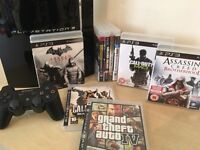 RARE Boxed PS3 60GB Console (Console Can Play PS3, PS2 & PS1 Games) + Controller + 9 Massive Games