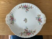 "Royal Albert ""Moss Rose"" cake dish"