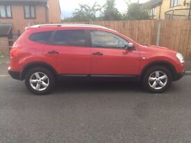 Nissan Qashqai +2 - Red, excellent condition MOT July 2017 and FSH
