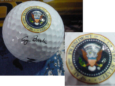 3 Presidential George H  W  Bush Golf Balls