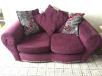 Two 2-seater DFS Sofas with footstool