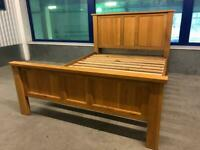 Chunky Solid Oak double bed frame
