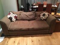 2 x 3 Seater Brown Sofa's Grab a Bargin