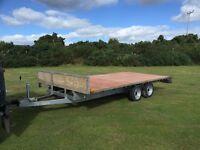 Bateson 14 x 7 flatbed trailer wide