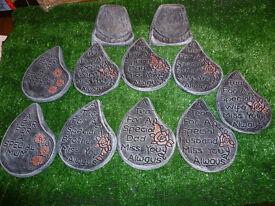 teardrop grave memorials £5