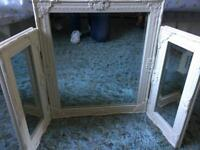 Lovely cream shabby style dressing table mirror