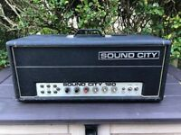 Sound City 120 Mk4 Custom Built Valve Guitar Amp Amplifier Head For Spares
