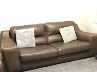 Italian Leather Marinelli Sofa 4 Seater