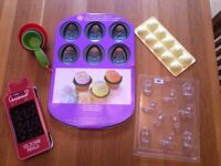Baking Set - New (Easter moulds, Christmas, moulds and measuring cups)