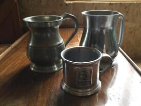 3 sliver jugs