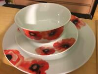 Brand new Sainsbury's dishes set 12 piece