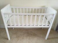 White Crib & Mattress