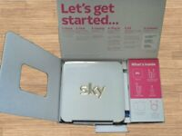 SKY HUB WIRELESS ROUTER – NEW IN BOX - WHITE / ALSO HAVE A NEW BLACK ONE