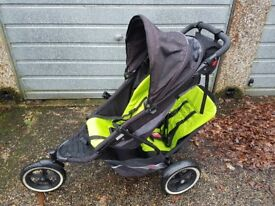 Phil and teds double buggy stroller