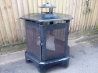 Garden - patio portable fire pit on industrial casters with breaks in good condition