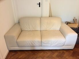 Two seater Natuzzi cream color sofa £50
