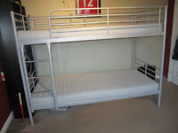Ikea Bunk bed with Two medium matresses and ladder