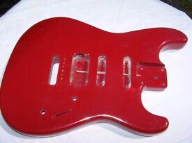 Strat Type Guitar Body.
