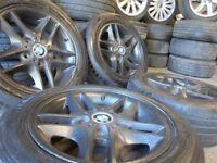16inch genuine bmw black Alloys Wheels z3 z4 1 3 Series Vw T5 Vauxhall Vivaro traffic 5x120