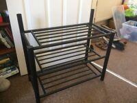 Metal shoe rack - 3 tier