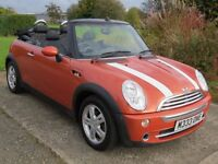 !!12 MONTHS MOT!! 2004 MINI ONE 1.6 CONVERTIBLE / 2 PREVIOUS OWNERS / SERVICE HISTORY / PRIVATE REG