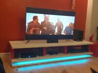 Tv Stand with LED changing lights