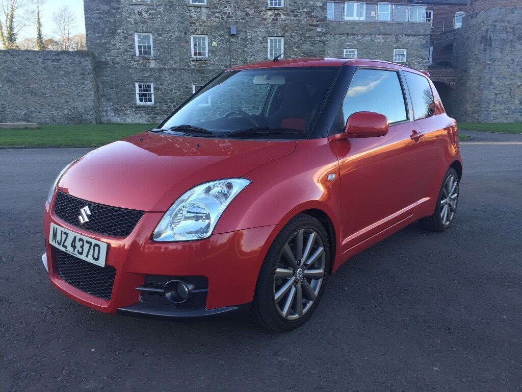 2007 suzuki swift sport 1 6 red full service history 91 000 miles full year mot in. Black Bedroom Furniture Sets. Home Design Ideas
