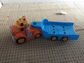 Large truck and car