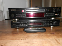 Pioneer-PDR-609-CD-Recorder-Hi-Fi-Stereo-Separate with Remote AND Pioneer F-208