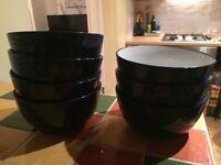 Blue John Lewis bowls x 7