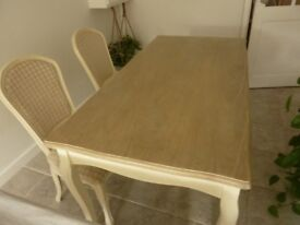 Dining table & two chairs from Achica