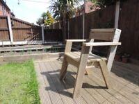 Handmade garden chair / garden furniture
