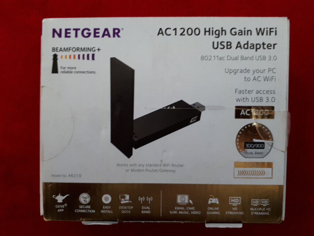 NETGEAR A6210-100PES AC1200 802 11ac USB 3 0 Beamforming+ WI-FI Adapter  Wireless Stick Dongle | in Leicester, Leicestershire | Gumtree
